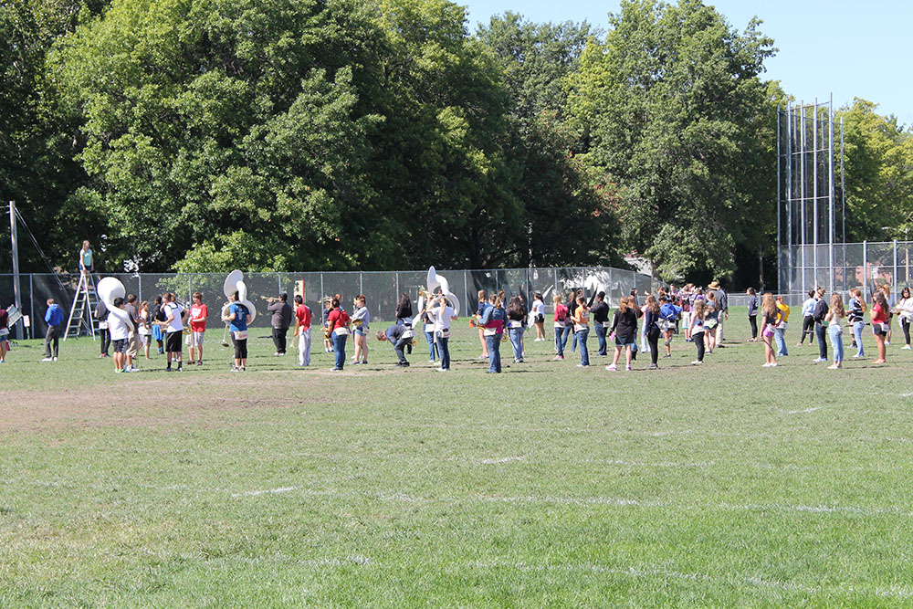 Northeast Marching Band Shows Great Promise for the 2015-16 School Year