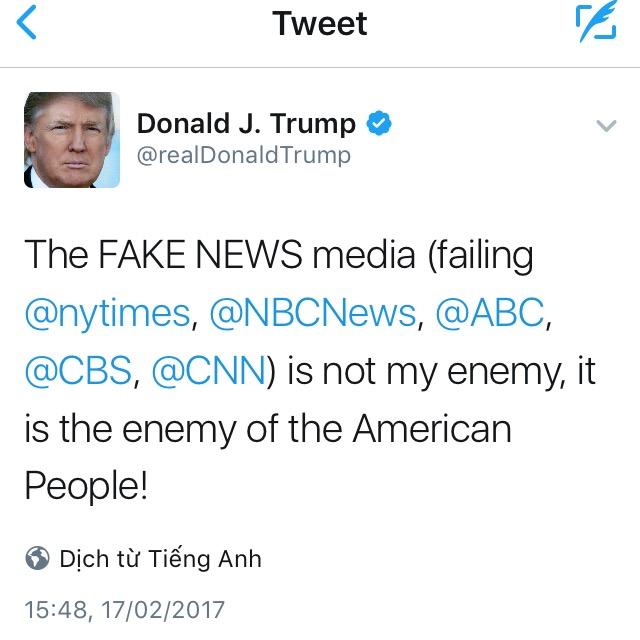 Donald Trump and Fake News